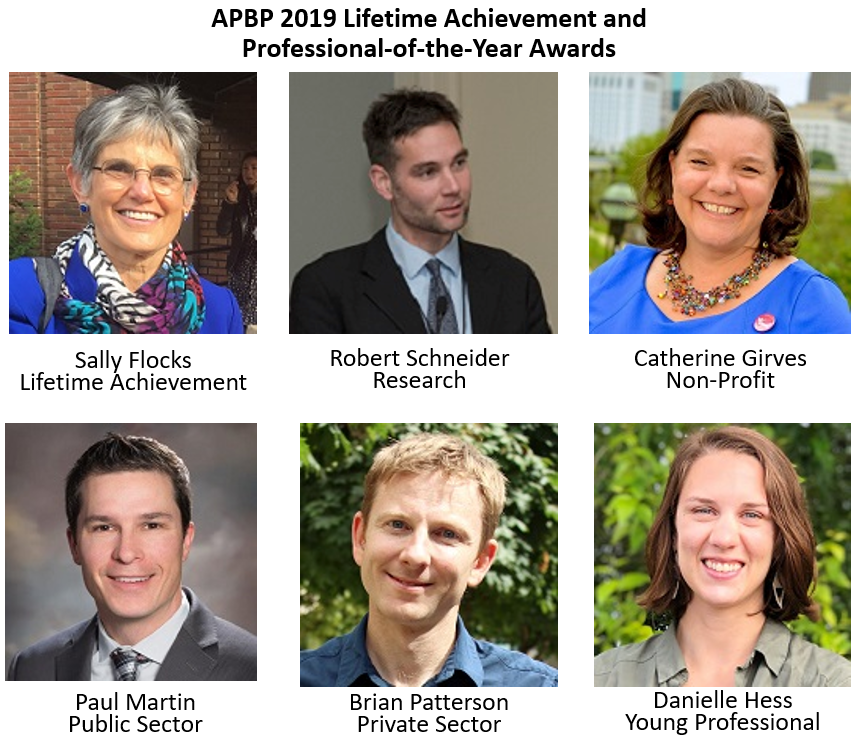 APBP Professional-of-the-year winners.